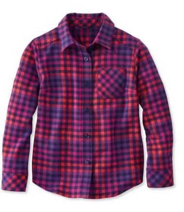 Girls' Flannel Shirt, Plaid