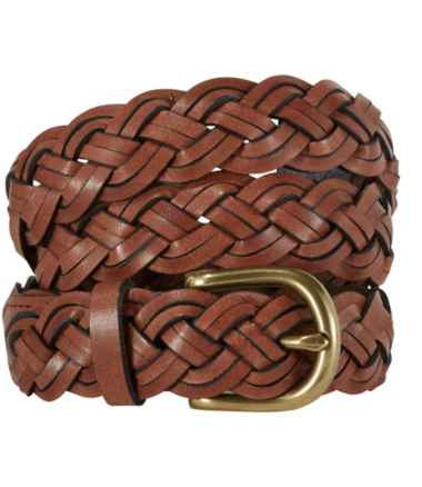 Women's L.L.Bean Braided Leather Belt
