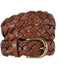 L.L.Bean Braided Leather Belt