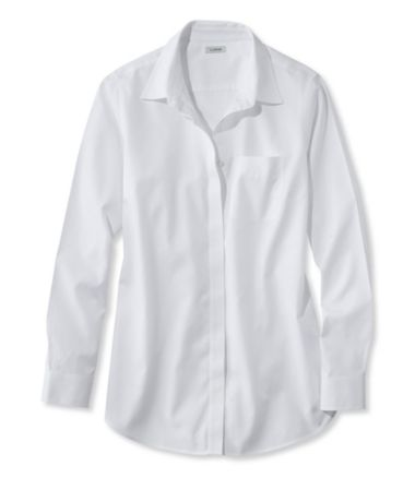 Wrinkle-Free Pinpoint Oxford Tunic, Long-Sleeve