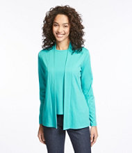 Pima Cotton Cardigan, Two-Pocket Open