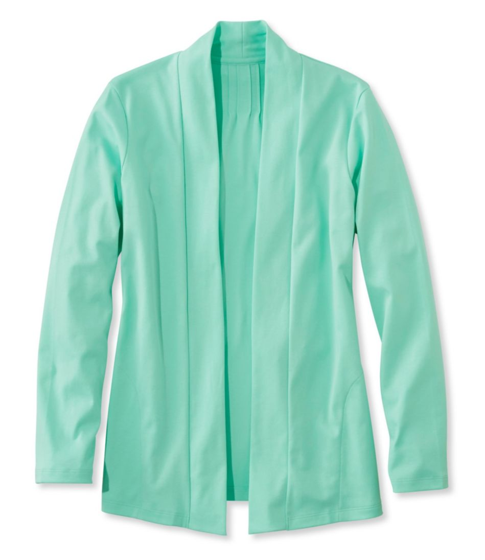 Pima Cotton Cardigan, Two-Pocket Open
