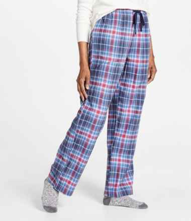 L.L.Bean Flannel Sleep Pants, Plaid