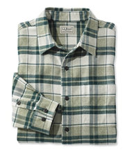 Oxford Flannel Shirt, Slightly Fitted Plaid
