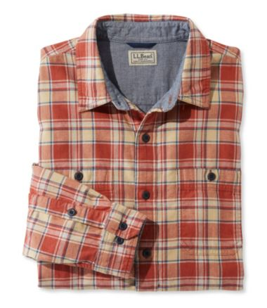 Men's Deer Isle Double-Cloth Shirt, Slightly Fitted Plaid