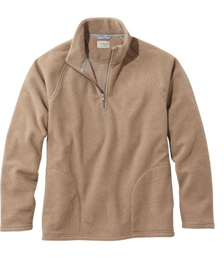 L.L.Bean Textured Fleece Quarter-Zip, Slightly Fitted