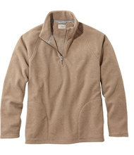 Men's PrimaLoft Textured Fleece Quarter-Zip, Slightly Fitted
