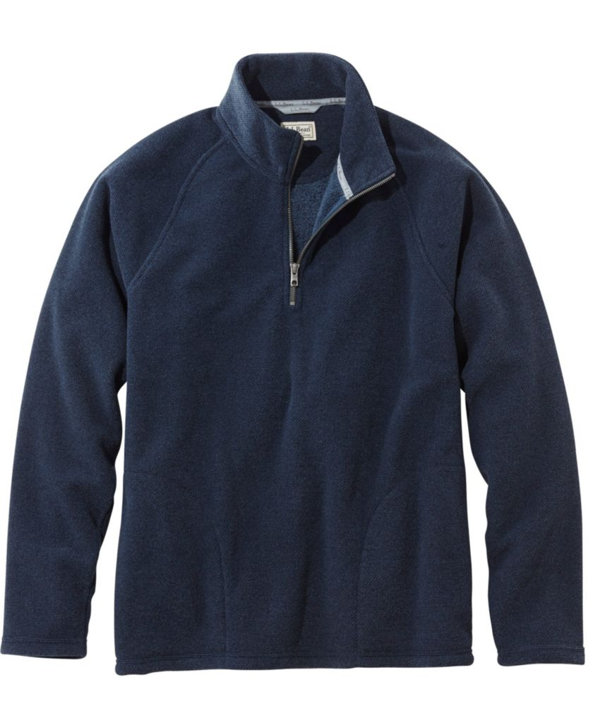 L.L.Bean Textured Fleece Quarter-Zip, Slightly Fitted