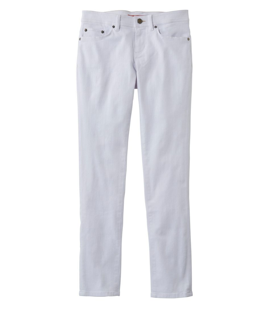 L.L.Bean Performance Stretch Jeans, White