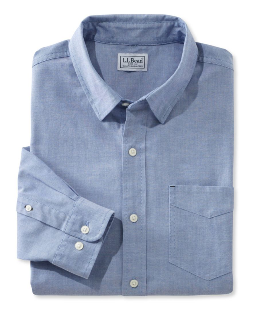 Men's L.L.Bean Stretch Oxford Shirt, Slightly Fitted