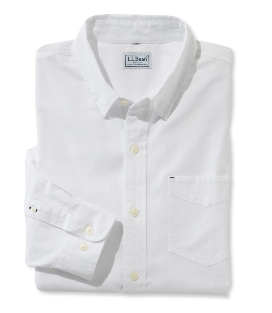L L Bean Stretch Oxford Shirt Slightly Fitted