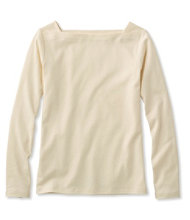 L.L.Bean Square Boatneck Pullover, Long-Sleeve