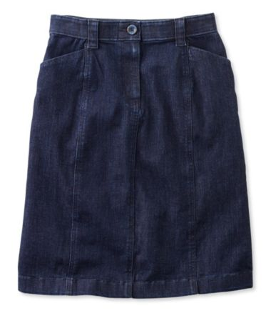 Easy-Stretch Skirt, Denim