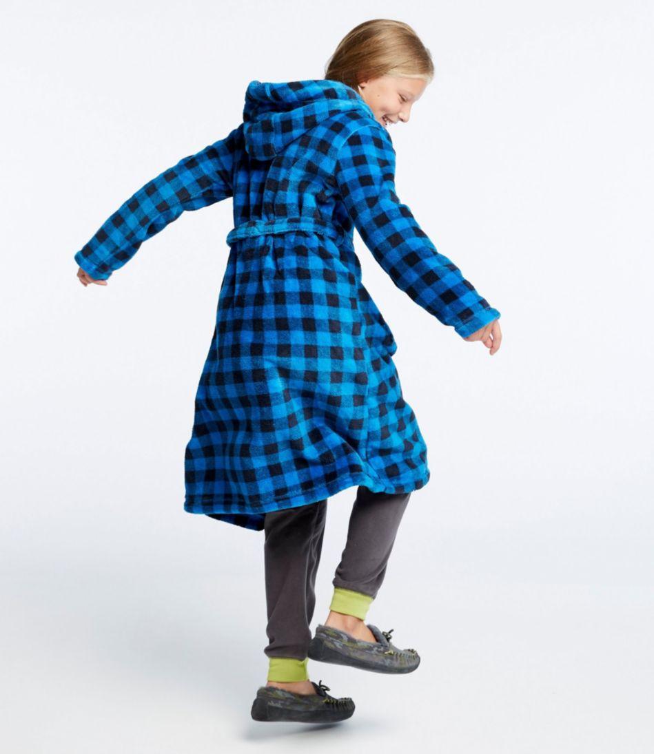Kids' Hooded Fleece Robe, Print