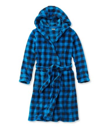 Kids' Hooded Fleece Robe, Print