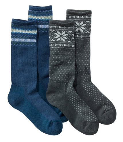 graphic boot socks two pack free shipping at l l bean