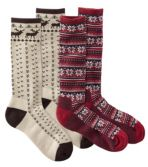 Women's Graphic Boot Socks, Two-Pack