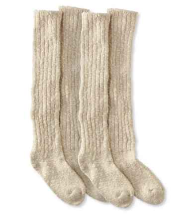 Women's Cotton Ragg Boot Socks, Knee-High Two-Pack