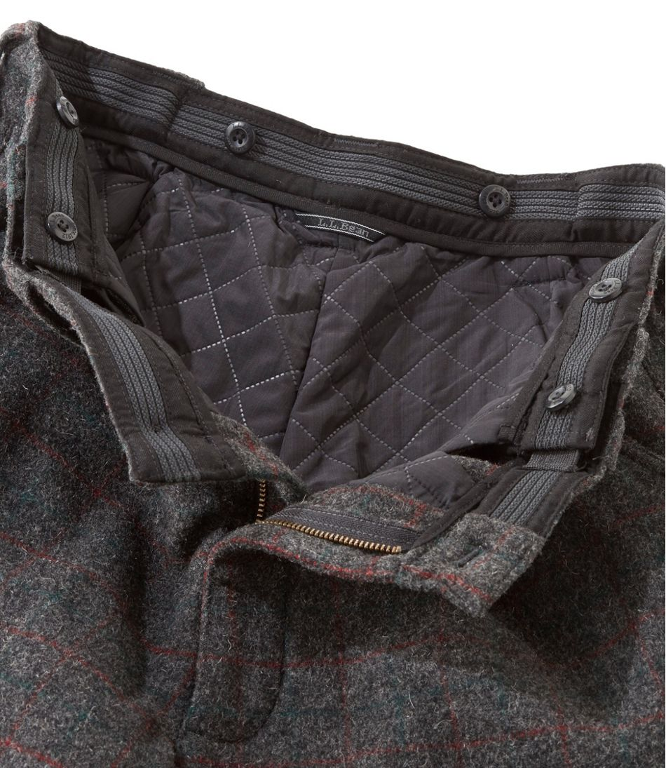 Men's Maine Guide Wool Pants with PrimaLoft, Plaid