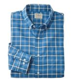 Easy-Care Chambray Shirt, Traditional Fit Plaid