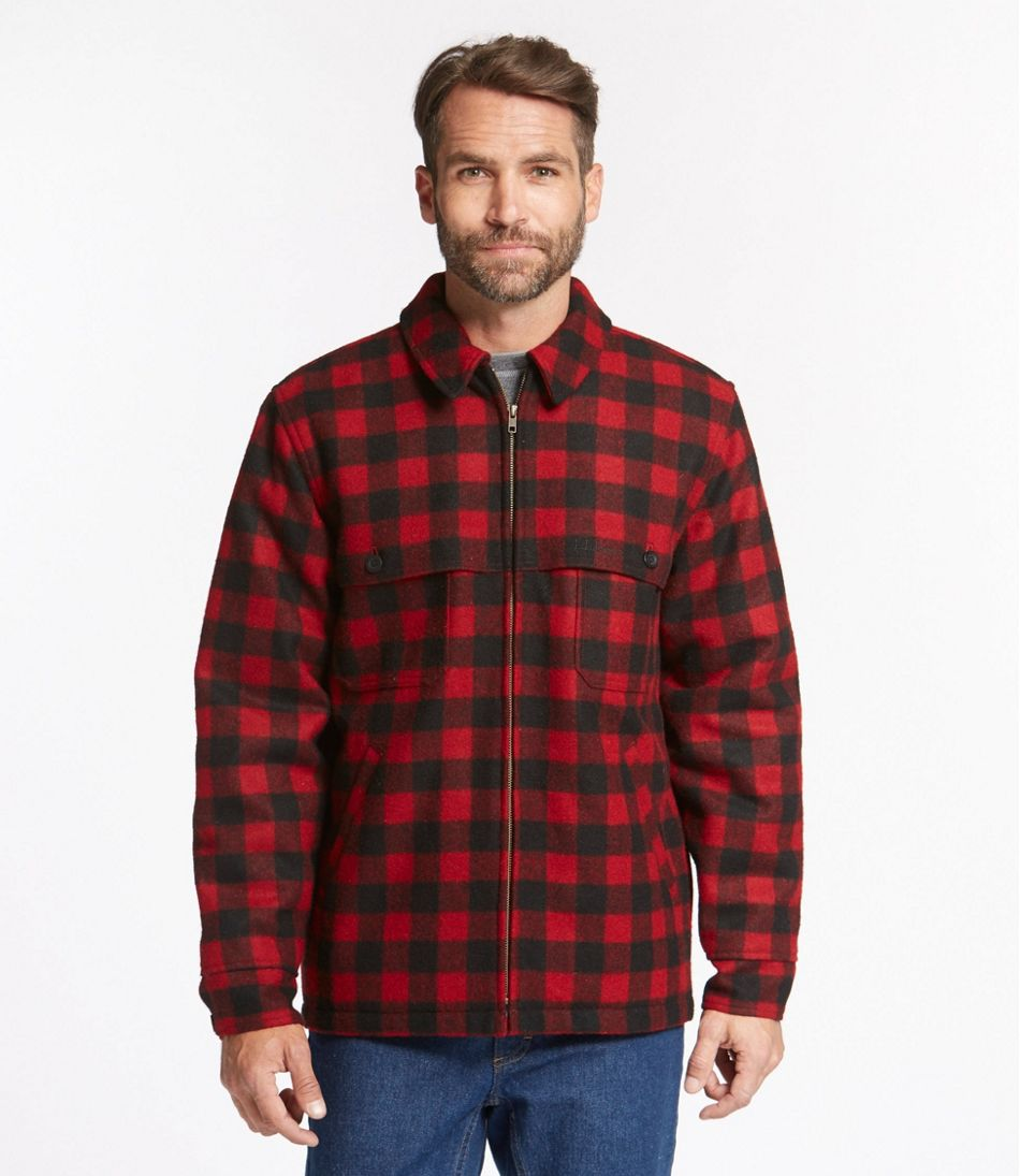 Men's Maine Guide Zip-Front Jac-Shirt with PrimaLoft, Plaid