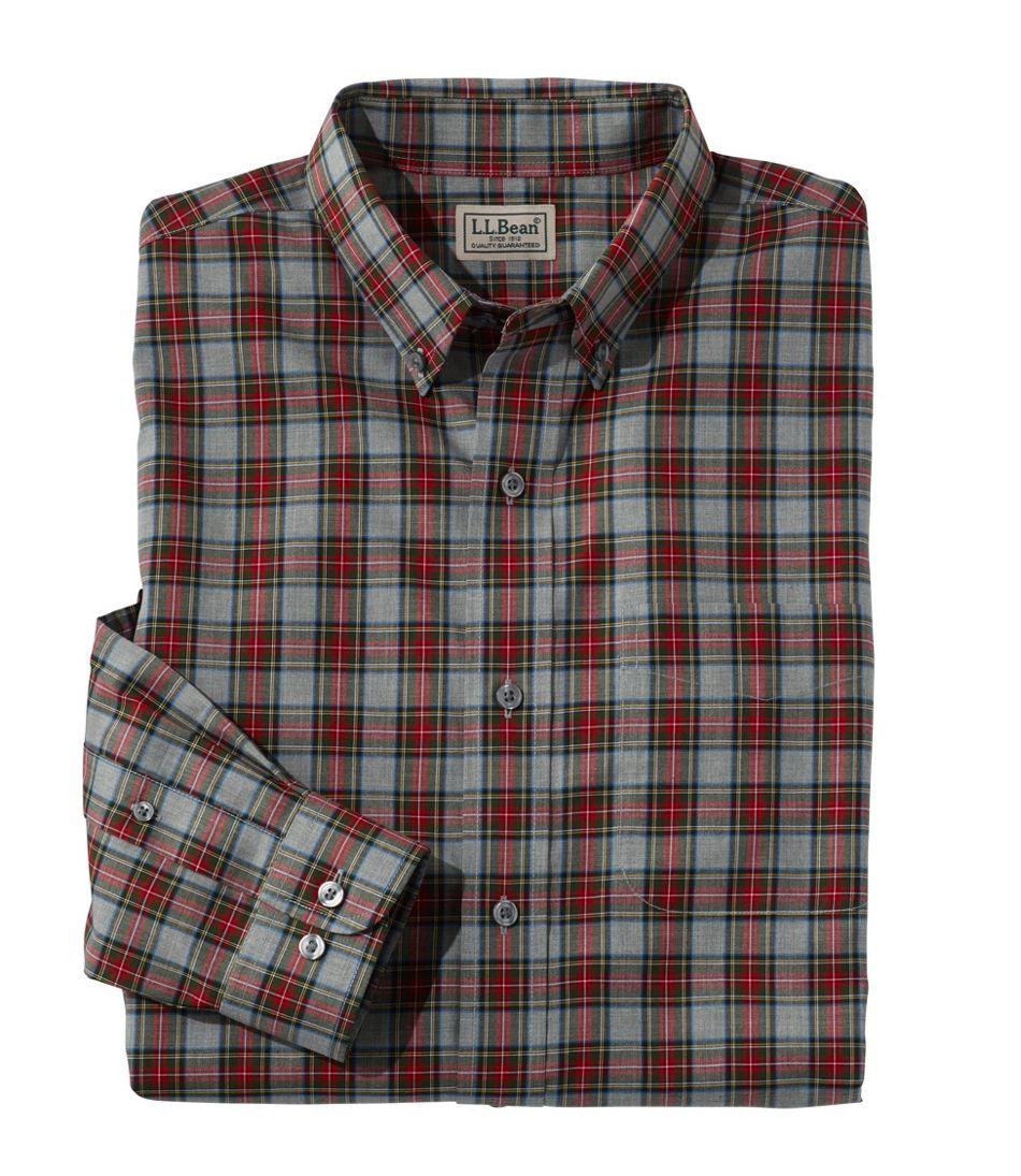Men's Wrinkle-Free Mini-Tartan Shirt, Traditional Fit
