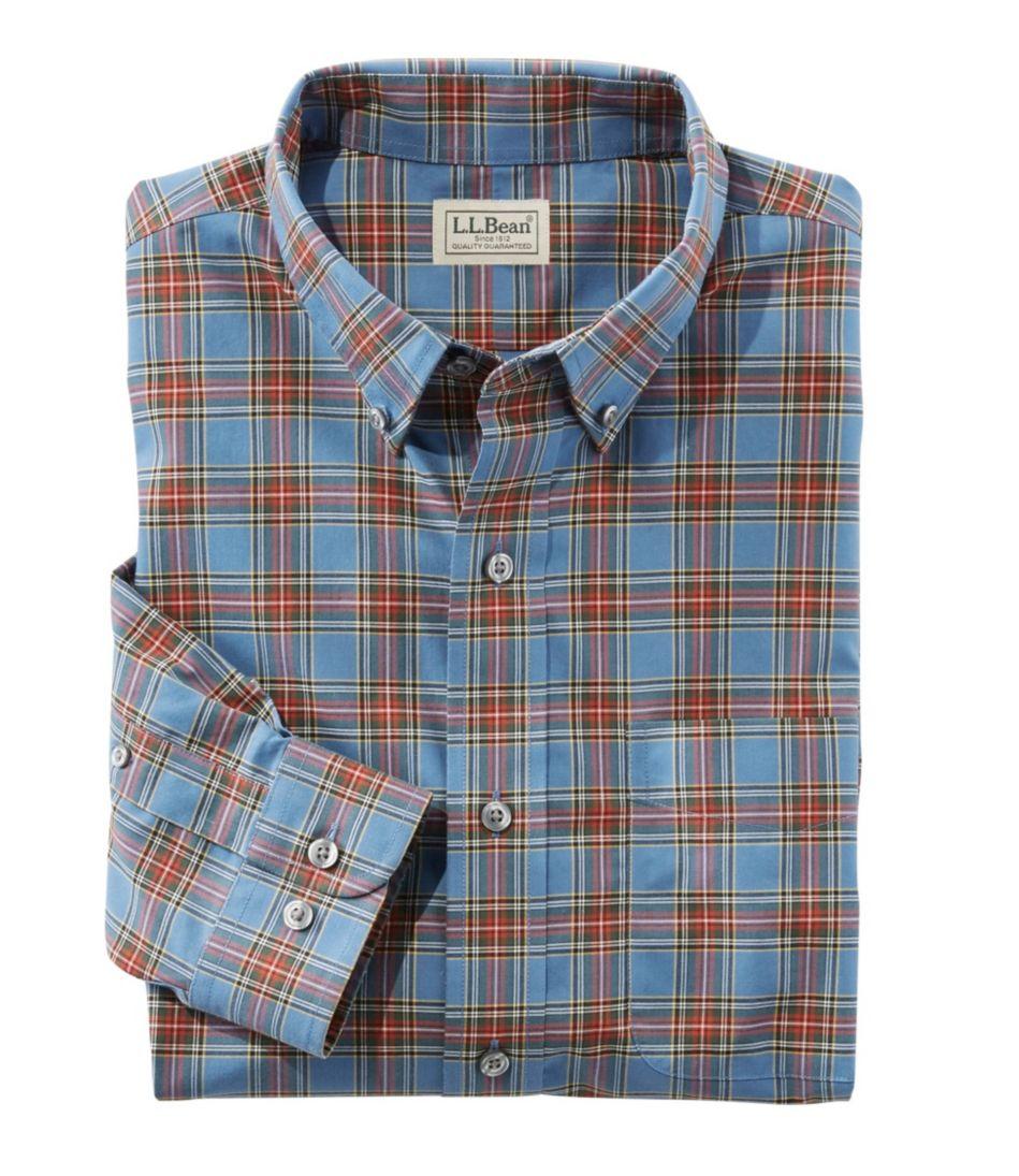 Wrinkle-Free Mini-Tartan Shirt, Traditional Fit