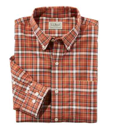Wrinkle-Free Mini-Tartan Shirt, Traditional Fit