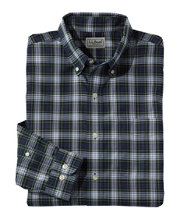 Wrinkle-Free Mini-Tartan Shirt, Slightly Fitted