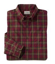 Wrinkle-Free Mini-Tartan Shirt, Slightly Fitted