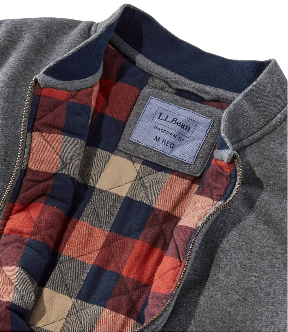Flannel-Lined Full-Zip Sweatshirt