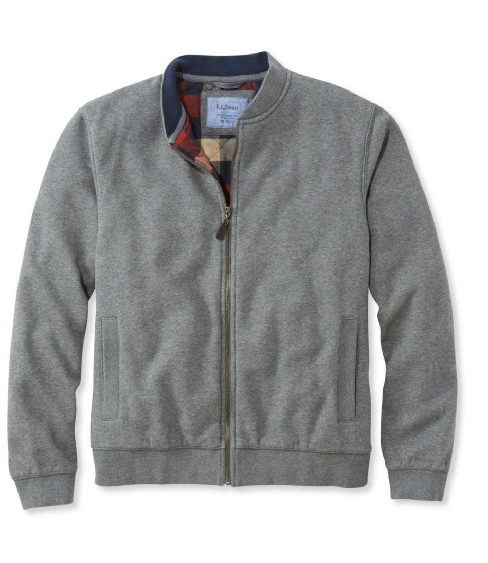 Men's Flannel-Lined Full-Zip Sweatshirt