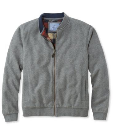 Flannel-Lined Full-Zip Sweatshirt
