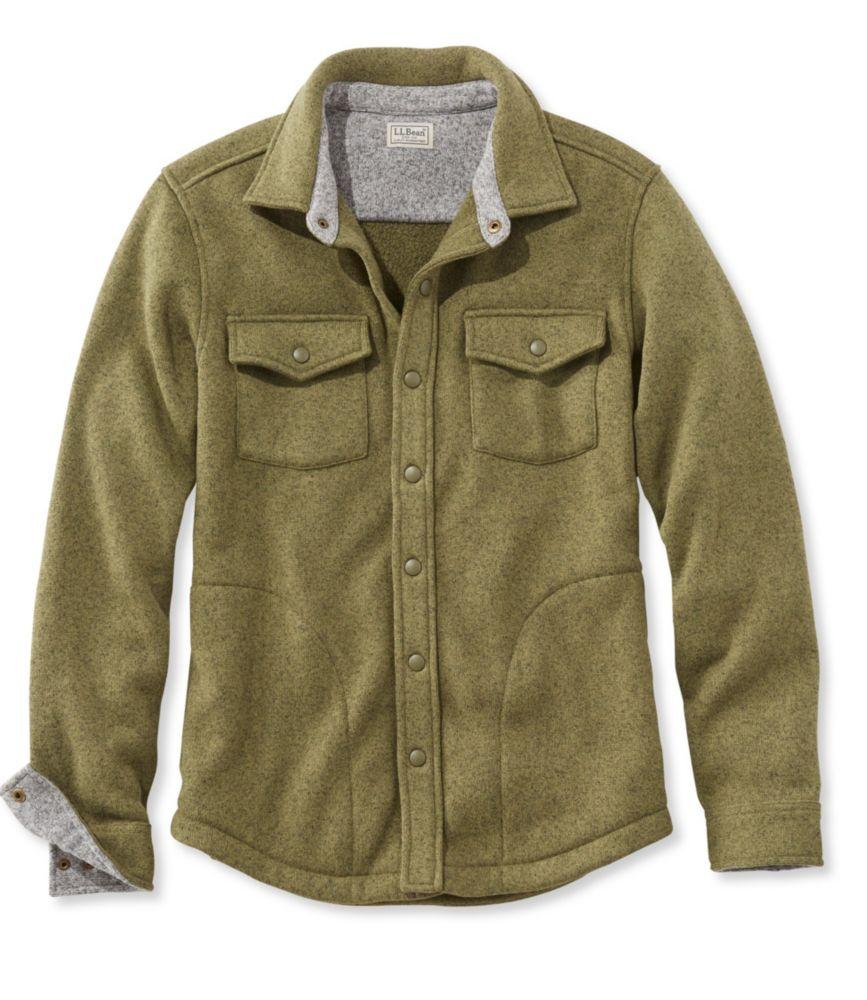 L.L.Bean Sweater Fleece Shirt-Jac