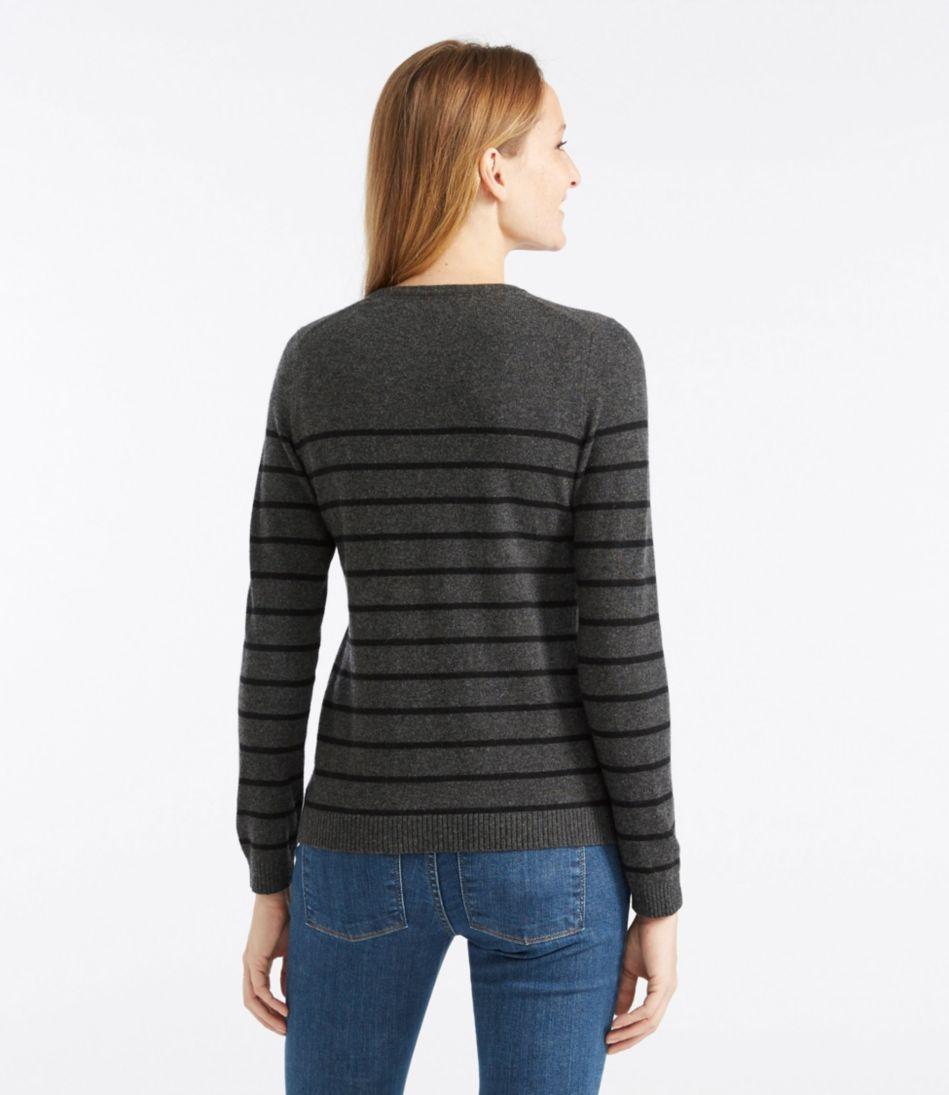 Classic Cashmere Sweater, Crewneck Stripe