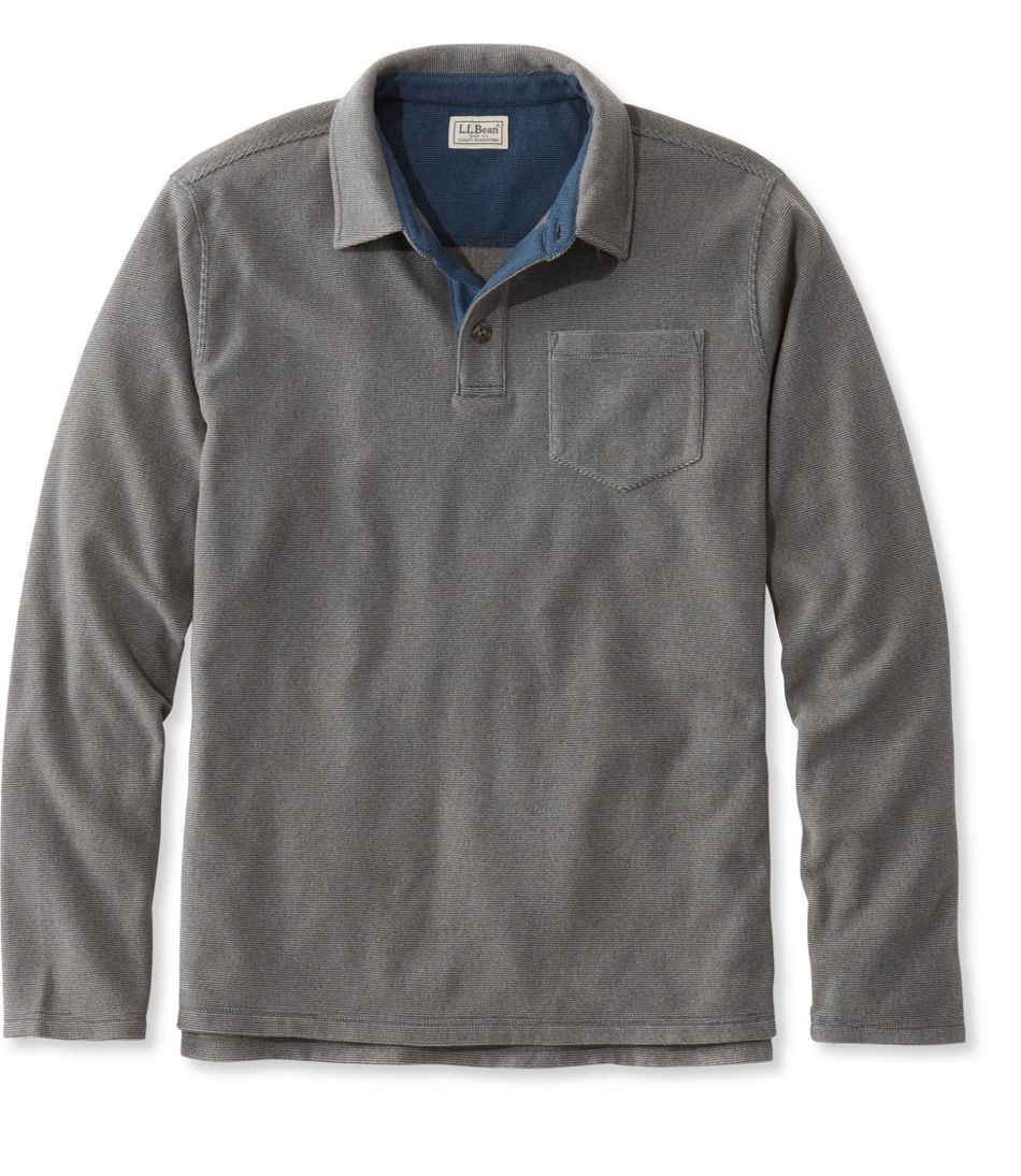 Llan Fleece Polo Shirt Long Sleeve Slightly Fitted