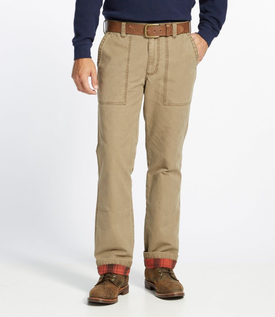L.L.Bean Flannel-Lined Fatigue Pants, Standard Fit