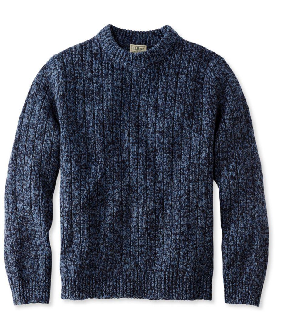 Classic Ragg Wool Sweater, Rib-Knit Crewneck
