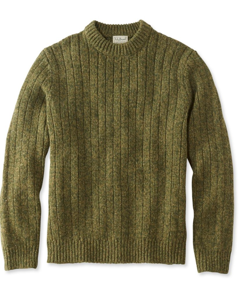 L.L.Bean Classic Ragg Wool Sweater, Crewneck Tall
