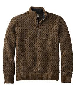 Men's Heritage Sweater, Norwegian Quarter-Zip