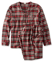 L.L.Bean Cotton/Wool Pajamas, Plaid