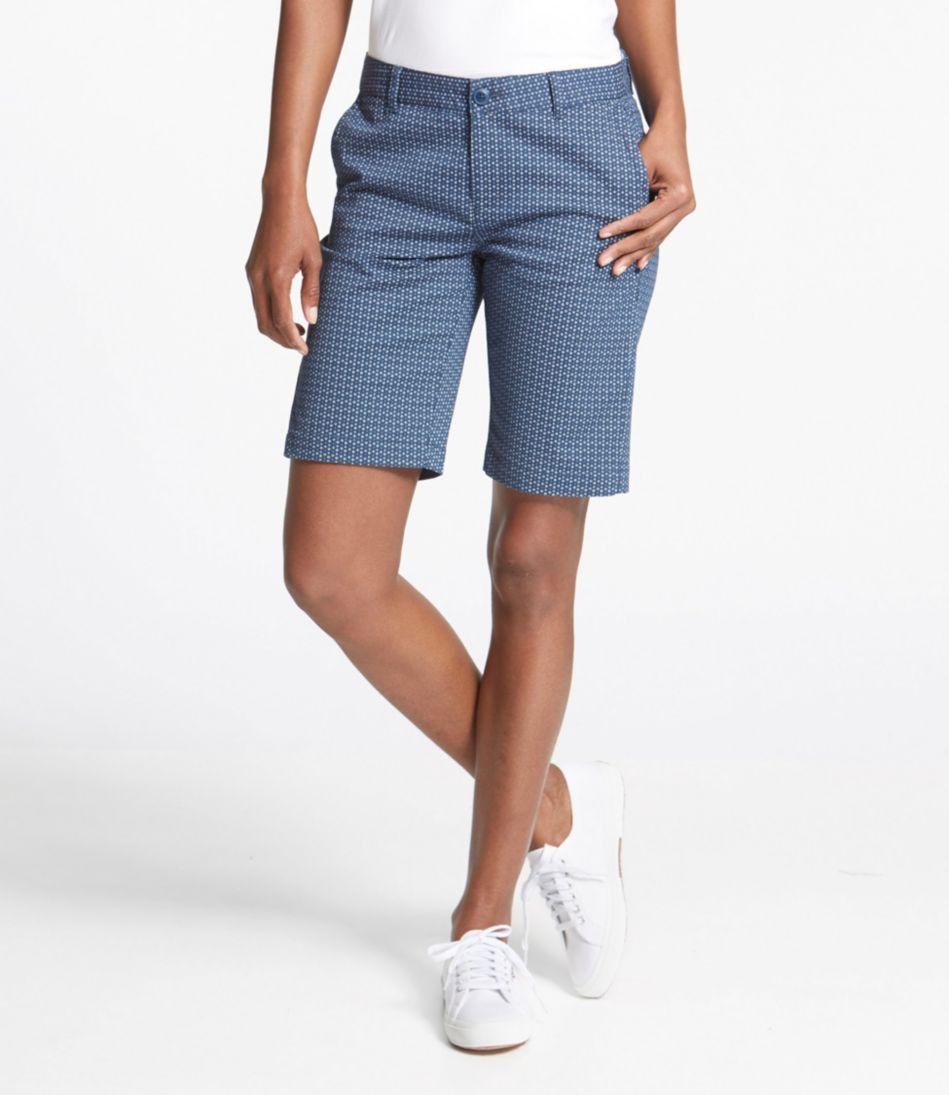 Washed Chino Bermuda Shorts, Print