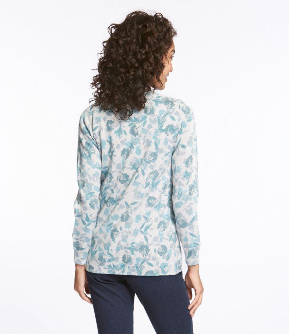 Premium Supima Cotton Sweater, Open Cardigan Floral
