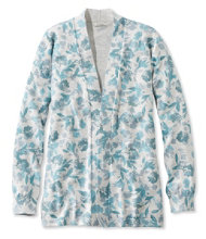 Premium Supima Cotton Sweater, Open Cardigan Floral