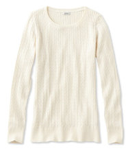 Classic Cable Sweater, Jewelneck