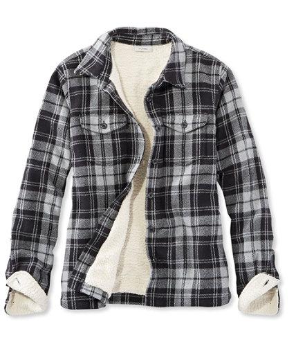 Sherpa-Lined Shirt Jacket, Twill | Free Shipping at L.L.Bean.