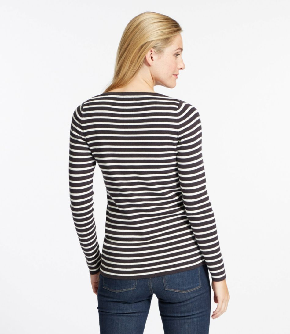 Soft Ribbed Striped Sweater