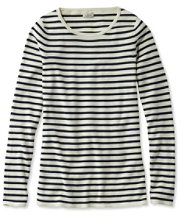 Women's Soft Ribbed Striped Sweater
