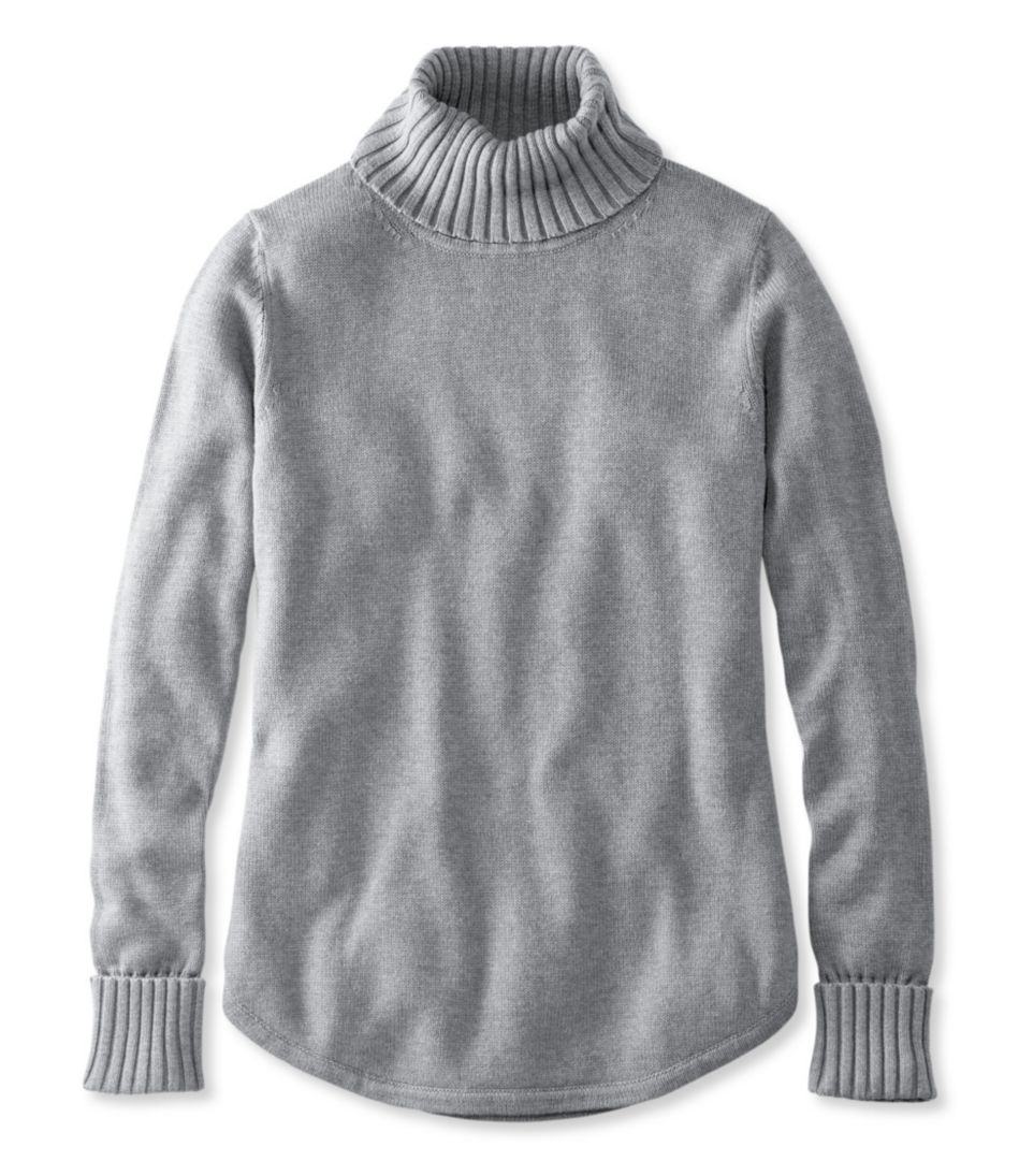 Midweight Cotton Sweater, Turtleneck