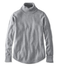 Midweight Cotton Sweater, Turtleneck